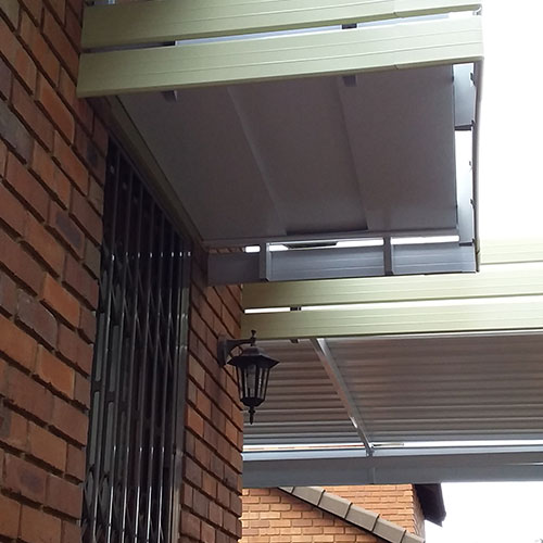all seasons fixed door awnings work done